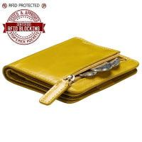 Itslife Women's Rfid Blocking Small Compact Bifold Leather Pocket Wallet Ladies Mini Purse with id W