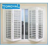 China White Decorative Plastic Shutters and House Dining Room Fireproof Louver on sale