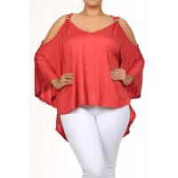 Quality Katya Cut-Out Top - CORAL for sale