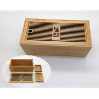 Quality Tea Set Bamboo Tea Box With Hollowed-out Lid for sale