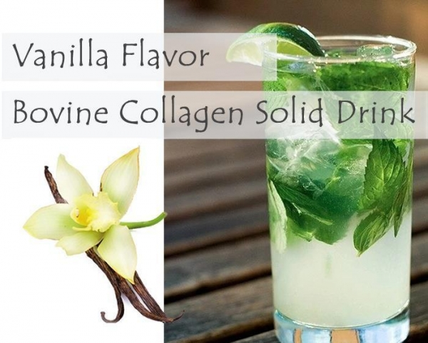 China Flavored Bovine Collagen Solid Drink Vanilla Bovine Collagen Solid Drink