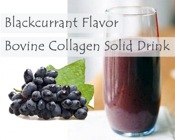 China Flavored Bovine Collagen Solid Drink Blackcurrant Bovine Collagen Solid Drink