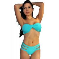 Buy cheap Big Sale Blue Bandeau Strappy Padded Bikini from wholesalers