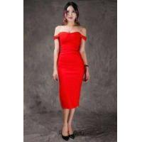 Buy cheap Summer Bodycon Dresses Red , Mid Length Bodycon Dresses A - Line from wholesalers