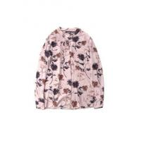 Buy cheap Ladies' Flower-printing Tie-collar Long-sleeve Draping Chiffon Blouse from wholesalers