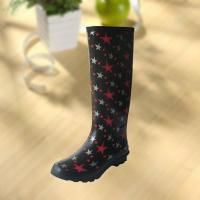 Quality Fashion Star Pattern Rubber Knee Boot For Woman for sale