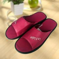 Quality Rose red cool Imitation ox-tendon sole leather slipper for sale