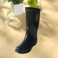 Quality High quality black rubber safety working knee boot for sale