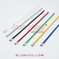 Quality PVC Coated Ball-Lock Cable Ties for sale