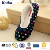 Quality Dance Shoes Printed Coral Fleece Bowknot Dance Shoes for sale