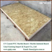 Quality UV coated PVC marble texture sheet for wall panel for sale