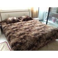 3 pcs bedsheet set 100% polyester animal skin printed flannel