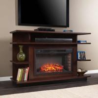 Quality Specials *CLOSEOUT SEI Granville Media Fireplace - Espresso/Ebony Stain for sale