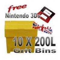 Quality Offers with Free Gifts 10x 200 Litre Grit Bins with Free Gift for sale