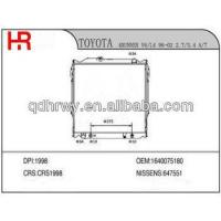 Quality auto radiator for TOYOTA 1640075180 for sale