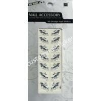 Quality White And Black French Nail Stickers Easy Removable With Safety Glue for sale
