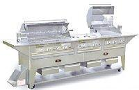 Quality 124 Natural Gas Grill Cart with 2 pair Four Broiler Burner, and 1 Three Broiler Burner by Lazy Man for sale