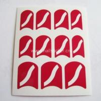 Quality Wholesale fashion curved line nail art design nail stencil for sale