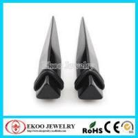 Quality Unuaual 3D Triangle Acrylic Ear Stretcher Ear Taper for sale
