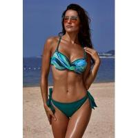 Quality Green Printed Top Self-tie Panty Swimwear #LC411053-9 for sale